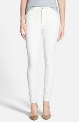 7 For All Mankind Corduroy High Waist Skinny Pants Soft White