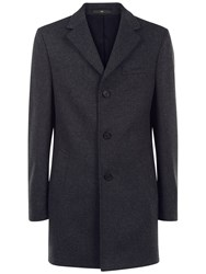 Jaeger Wool Cashmere Overcoat Charcoal