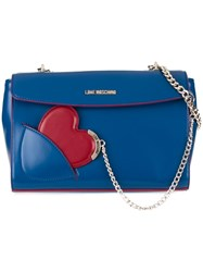 Love Moschino 'Heart' Tag Crossbody Bag Blue