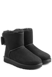 Ugg Australia Mini Bailey Bow Suede Boots Black