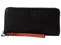 Will Leather Goods Imogene Checkbook Black Checkbook Wallet