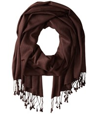 Betsey Johnson Cashmere Silk Real Pashmina Brown Scarves