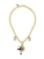 Dolce And Gabbana Bee Pendant Necklace Metallic