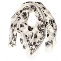 Engineered Garments Alexander Mcqueen Skull Scarf Ivory And Black
