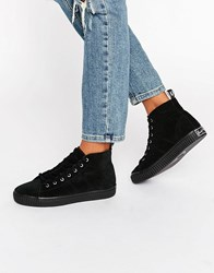 Fred Perry Ellesmere Mid Suede Trainers Black