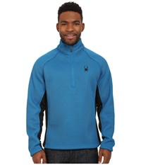 Spyder Pitch Half Zip Heavy Weight Core Sweater Concept Blue Black Men's Sweater