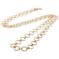 Mirabelle Long Circle Chain Necklace Gold