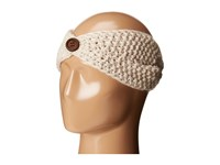 San Diego Hat Company Knh3440 Cable Knit Headband With Wood Button Ivory Headband White