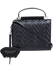 Christian Siriano Quilted Flap Tote Black