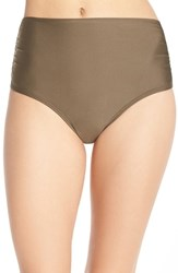 Luxe By Lisa Vogel Women's Luxe 'Premier' High Waist Bikini Bottoms