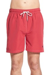 Men's Brooks Brothers 'Montauk' Swim Trunks Medium Red