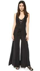 Public School Sachey Silk Jumpsuit Black