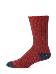 Barbour Houghton Dual Toned Socks Red Navy