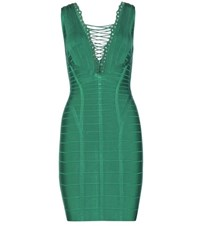 Herve Leger Ceylin Bandage Dress Green