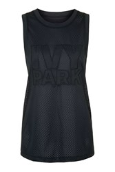 All Over Mesh Longline Tank By Ivy Park Black