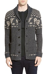 G Star 'Draha' Shawl Collar Cardigan Raven Heather
