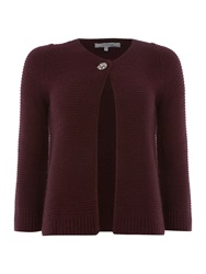 La Fee Maraboutee Long Sleeved Cardigan Round Neck Purple