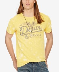 Denim And Supply Ralph Lauren Men's Jersey Graphic T Shirt Yellow