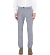 Ted Baker Linen Patterned Trousers Blue