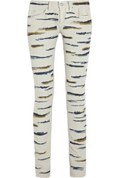 Isabel Marant Orson Embroidered Skinny Jeans