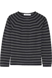 Comme Des Garcons Striped Wool Sweater Navy