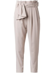 Loveless High Waisted Trousers Brown