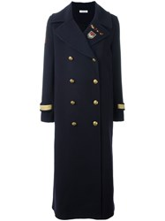 P.A.R.O.S.H. Military Long Coat Blue
