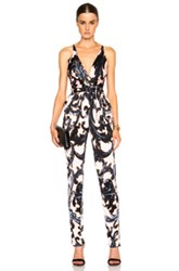 Issa Rubell Jumpsuit In Black Orange Floral