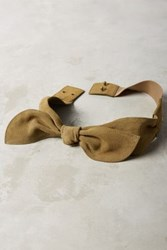 Anthropologie Brigitte Bow Belt Moss