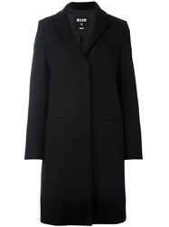 Msgm Cat Patch Detail Coat Black
