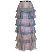 Supersweet X Moumi Pearldrop Tiered Skirt Blue Silver Pink