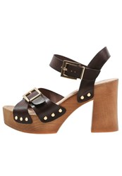 Kmb Noyba Platform Sandals Moka Dark Brown