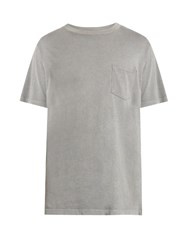 Alexander Wang Patch Pocket Short Sleeved Cotton T Shirt Light Grey