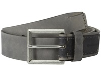 Calvin Klein 38Mm Flat Strap Smooth Matte Leather Harness Buckle Grey Smoke Men's Belts Gray