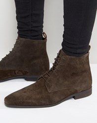 Zign Suede Lace Up Boots Brown