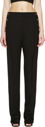 Anthony Vaccarello Black Buttoned Wide Leg Trousers