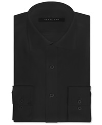 Sean John Big And Tall Solid Dress Shirt Black