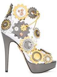 Charlotte Olympia Spring In Her Step' Sandals Metallic