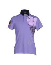 Blauer Topwear Polo Shirts Men Purple