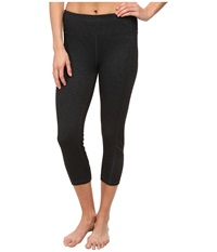 Zobha Shannon Mesh Blocked Capri Phantom Heather Women's Capri Black