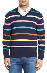 Men's Brooks Brothers Stripe V Neck Sweater
