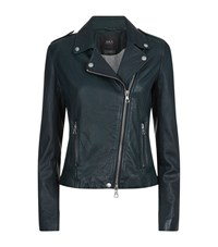 Set Leather Biker Jacket Female Black