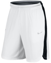 Nike Men's Elite Lift Off Basketball Shorts White Black Wolf Grey