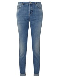 Collection Weekend By John Lewis Straight Leg Jeans Mid Blue