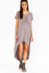 Truly Madly Deeply Boho Triangle High Low Tee Brown