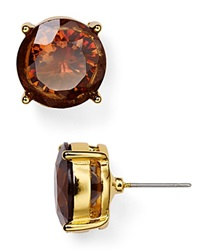 Lauren Ralph Lauren Stud Earrings Smoky Topaz Gold