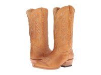 Stetson Ficcini All Over Tan Burnished Calf Cowboy Boots Brown