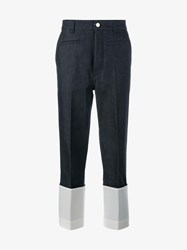 Loewe Fisherman Jeans Denim White Blue Black