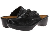 Naot Footwear Havana Black Madras Leather Shadow Grey Nubuck Women's Clog Shoes