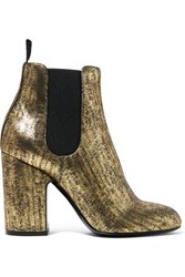 Laurence Dacade Mila Metallic Brushed Leather Ankle Boots